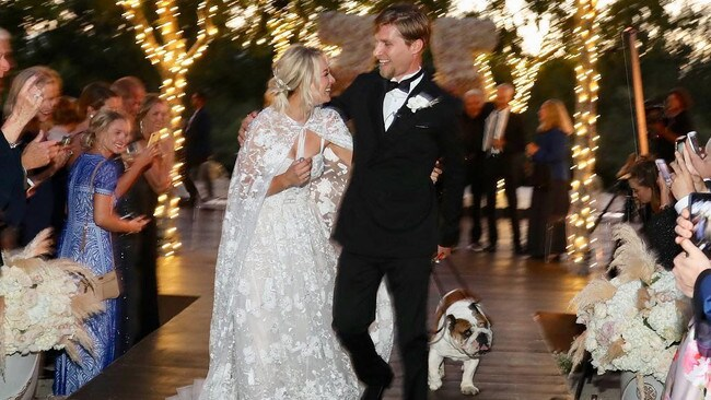 Kaley Cuoco and Karl Cook on their wedding day. Picture: Instagram/Normancook