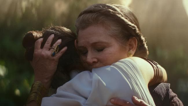 The late Carrie Fisher lives on as General Leia Organa in  <i>Star Wars: The Rise of Skywalker</i>. Picture: Disney/Lucasfilm