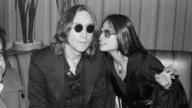 John Edward says he did a reading for May Pang (right) who believed the man Edward was referring to was Beatle John Lennon (left). Image: Getty.