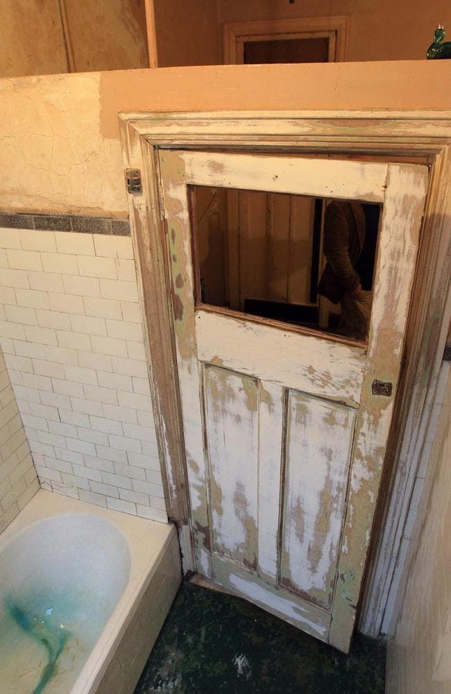 Renovator's dream,: a bathroom in the building. Picture: News Corp