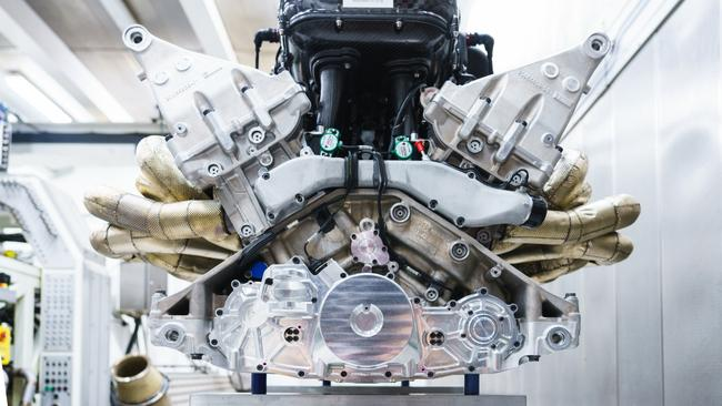 The Aston Martin Valkyrie engine uses F1 construction methods to reduce weight.