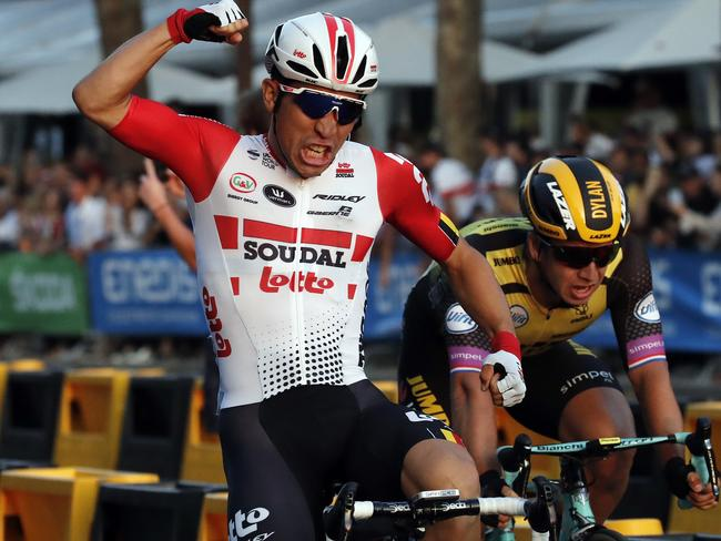 Caleb Ewan proved untouchable in a firefight.