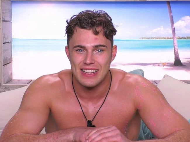 Love Island star Curtis Pritchard caused chaos when he revealed his favourite sex position. Picture: ITV