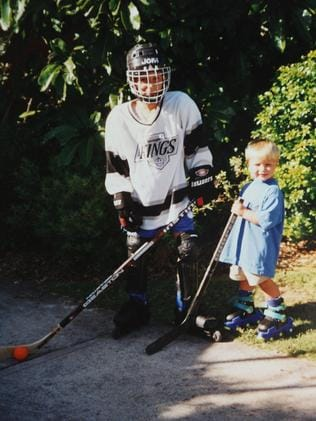 Nathan (R) and brother Ryan grew up on skates