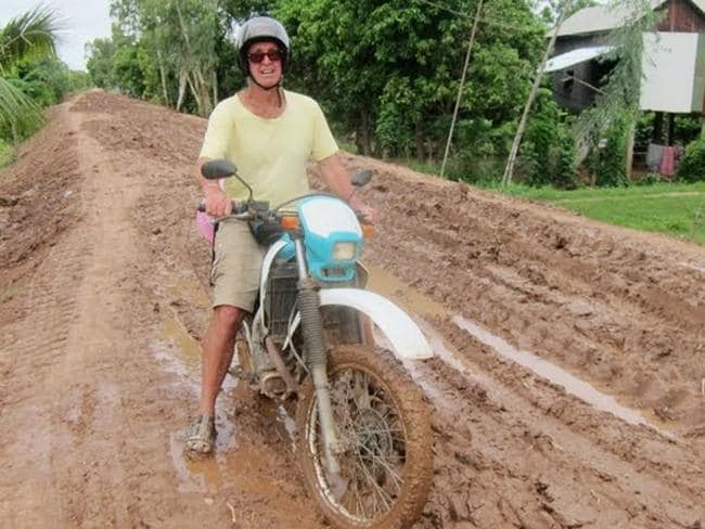 A supplied photograph of Australian filmmaker James Ricketson visiting Cambodia in 2015. Picture: AAP