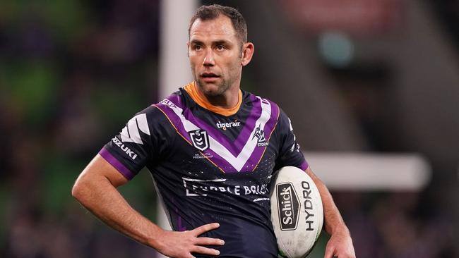 Cameron Smith of the Melbourne Storm looks on during the 2019 season