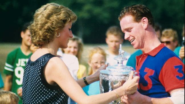 Princess Diana and James Hewitt. Picture: Supplied/Seven.