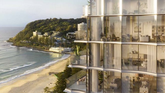 The view from the twin towers approved for Burleigh on the Gold Coast.