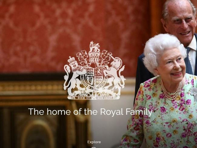 Photo of royal.uk home page, which accidentally sent users to a Chinese porn site. Picture: Supplied