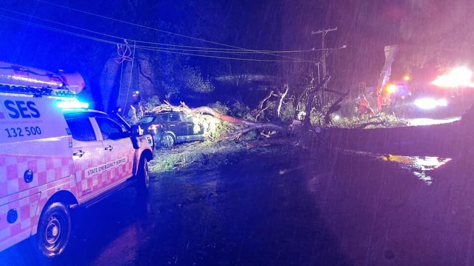 Storm damage in Orange. Picture: NSW SES Orange City Unit