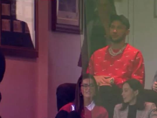 Talia Richman in the Marvel Stadium box with Ben Simmons.
