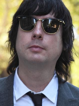 Producer and multi-instrumentalist of Glass Candy, Johnny Padgett. Picture: Peter Rae/AAP