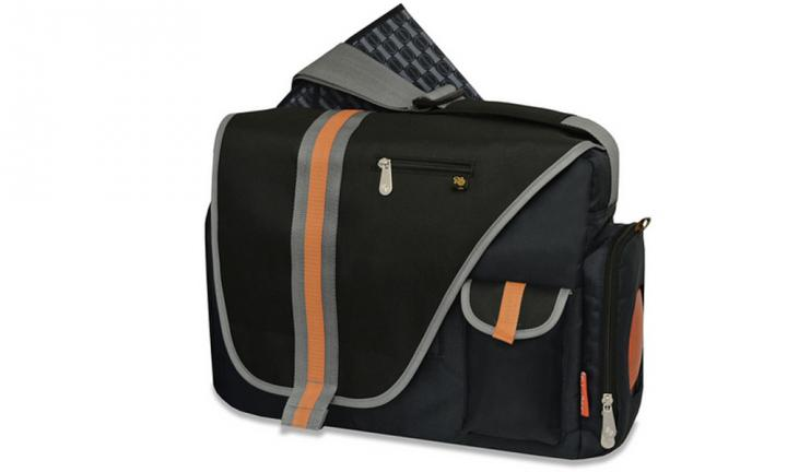 "DELUXE MESSENGER NAPPY BAG: This one's a nappy bag that Dad wouldn't be embarrassed to carry!  <p>There are four external pockets for bottles, wipes, dummies and nappies plus a changing mat, wipes case and mobile phone and tablet pockets. <a href=""http://www.toysrus.com.au/fisher-price-deluxe-messenger-nappy-bag_10486288/"">BUY IT HERE</a></p>"
