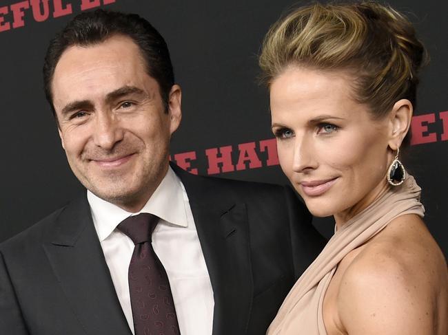 Demian Bichir and his wife Stefanie Sherk. Picture: AP
