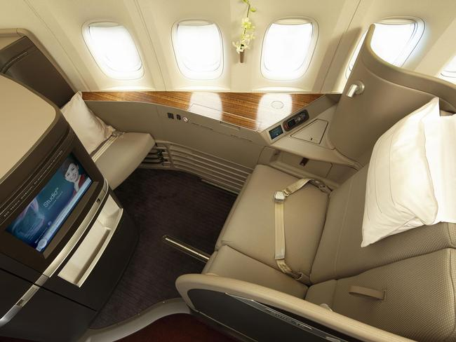 Upgrading to first or business class is a smart way of spending the points you've earned. Picture: Cathay Pacific