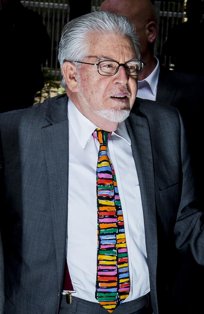 No remorse for his deplorable actions ... Artist and television personality Rolf Harris has written a song in jail mocking his victims. Picture: Tristan Fewings / Getty Images