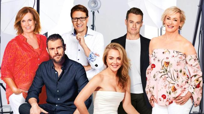 2018 Gold Logie nominees Tracy Grimshaw, Rodger Corser, Andrew Winter, Jessica Marais, Grant Denyer and Amanda Keller. Photo: Supplied