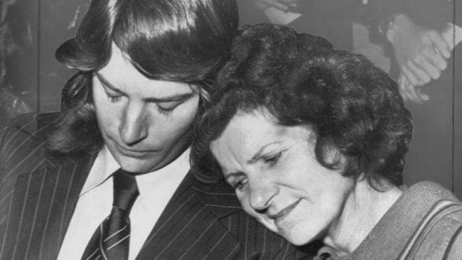 William Krope and his mother Josephine Krope after the acquittal. Picture: Supplied