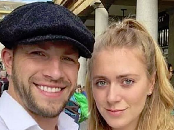 Fast and Furious stuntman Joe Watts and his fiancee. Picture: Supplied