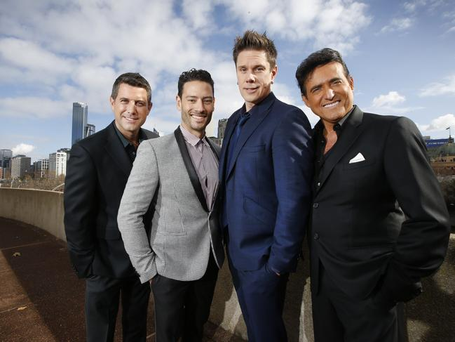 Il Divo from left to right: Sebastien Izambard, Urs Buhler, David Miller and Carlos Marin. Picture: David Caird
