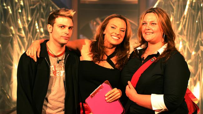 Big Brother contestant Daniel with Gretel Killeen and contestant Chrissie in 2003.
