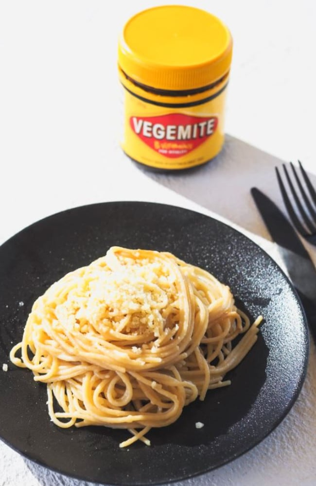 Vegemite pasta … yay or nay? Picture: Fat Mum Slim