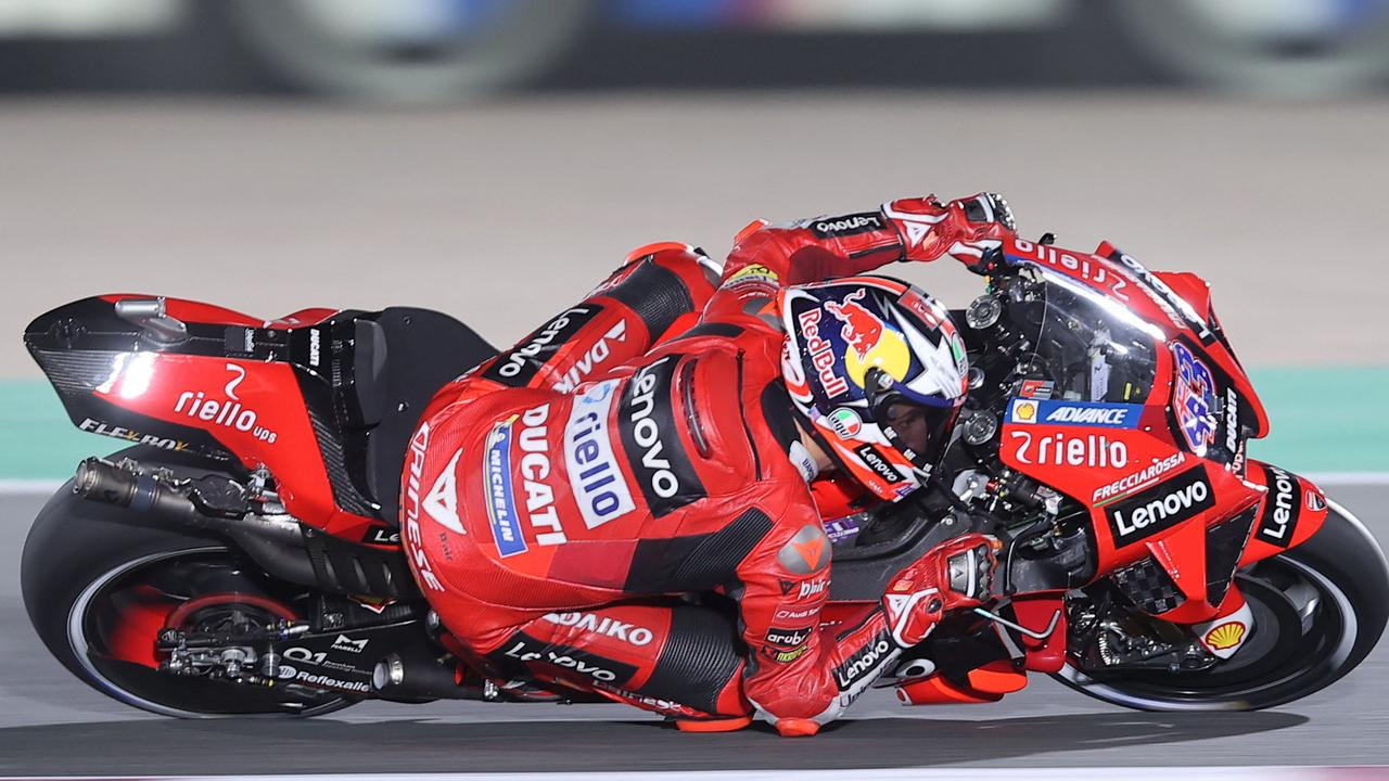 Ducati Lenovo Team's Australian rider Jack Miller had a scary moment. (Photo by KARIM JAAFAR / AFP)