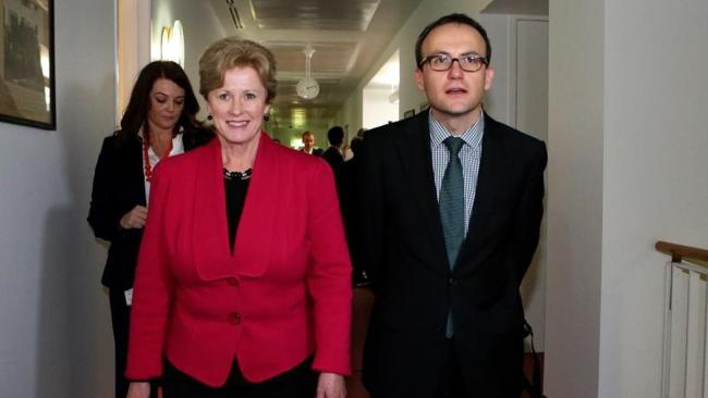 Greens leader Christine Milne (with Melbourne MP Adam Bandt) has demanded Kevin Rudd call an election soon or the Greens may pull their support.