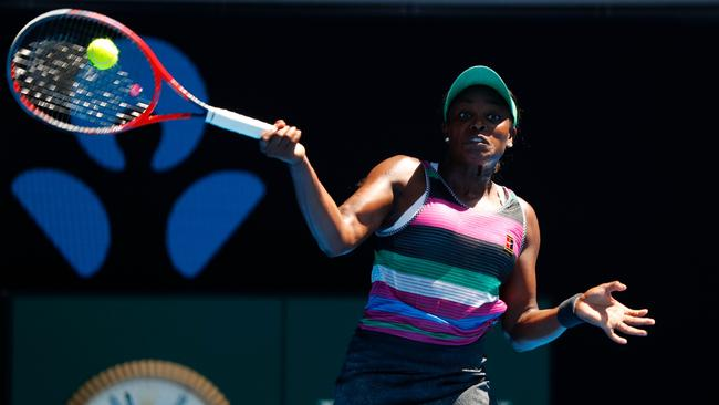 Sloane Stephens was full of colour. Picture: David Gray