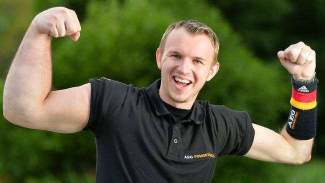 Matthias Schlitte was born with a gigantic superhuman arm.