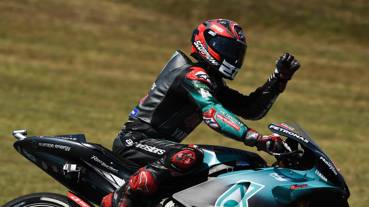 Fabio Quartararo took his second pole position of his rookie season.