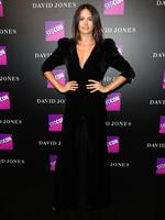 Jesinta Franklin at the David Jones Autumn Winter 2017 Collections Launch held at the St Mary's Cathedral Forecourt in Sydney. Picture: Christian Gilles