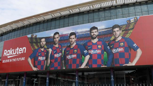 When could football return to the Camp Nou stadium in Barcelona? Picture: AFP