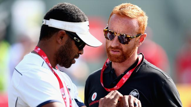 Ben Ryan (R) has announced his squad for the Rio Olympics.