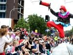 Clowning around in the 2017 Adelaide Christmas Pageant. AAP Image/Dean Martin