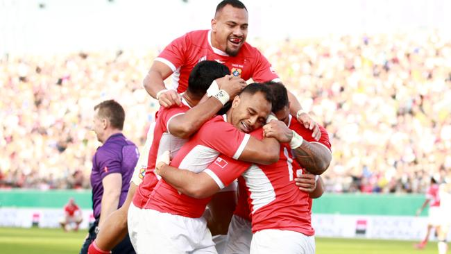 Tonga finished with a flurry against the USA.