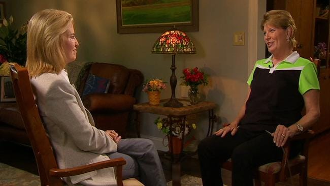 First interview ... Smith Mountain Lake Chamber of Commerce executive director Vicki Gardner speaks with Fox News' Greta Van Susteren. Picture: Fox News/On The Record via AP