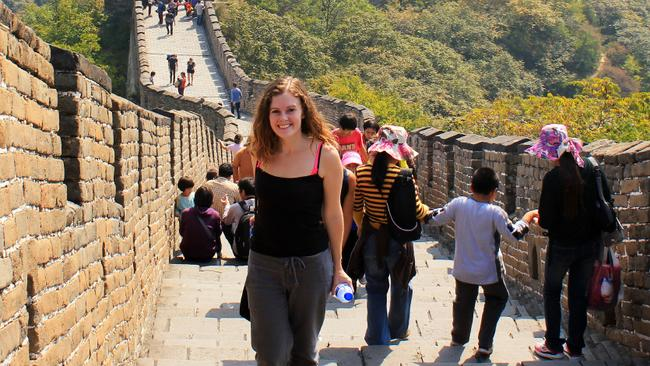 Lauren on the Great Wall of China.