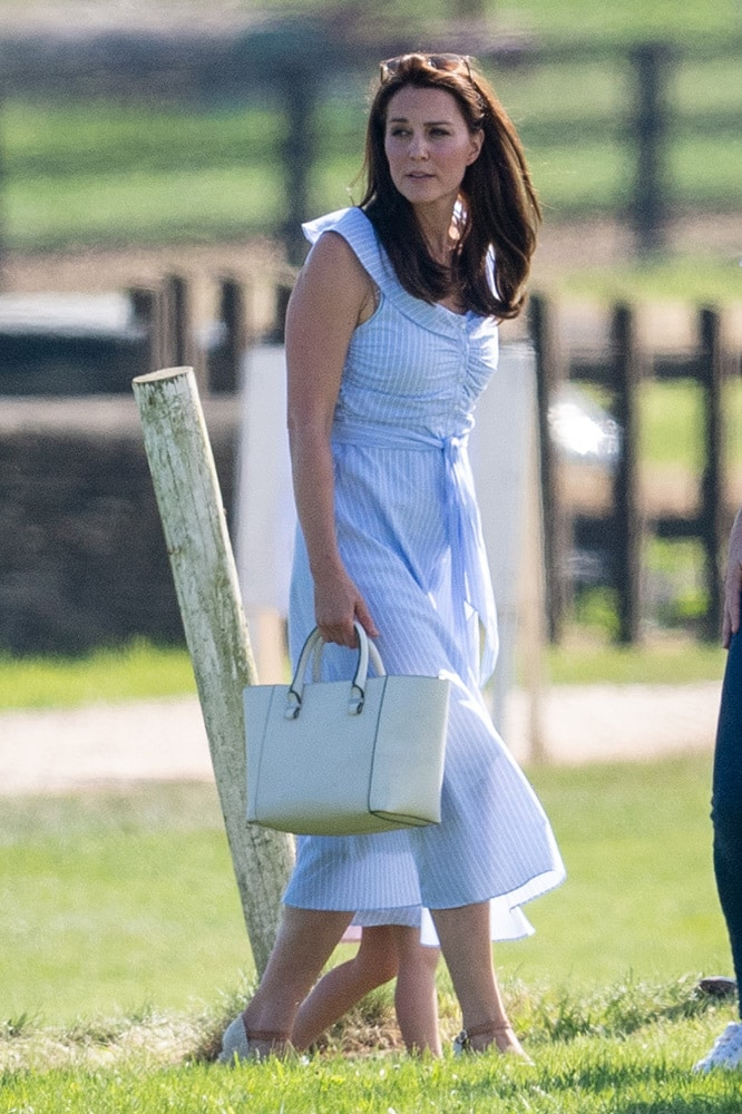 362f7c78 Kate Middleton wore a $99 Zara dress to the polo - Vogue Australia