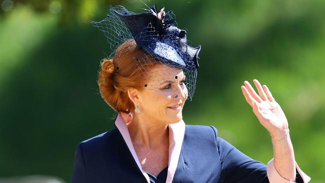 Sarah, Duchess of York arrives at St George's Chapel. Picture: Getty