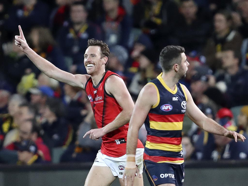 The Bombers made a surprising decision to delist Mitch Brown. Picture: Sarah Reed