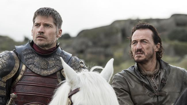 Jaime has mostly just spent time with Bronn before now. Picture: Supplied/Foxtel