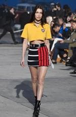 Model Bella Hadid walks the runway at the TommyLand Tommy Hilfiger Spring 2017 Fashion Show on February 8, 2017 in Venice, California. Picture: Getty