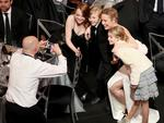Emma Stone, Charlie Shotwell, Brie Larson and Shree Crooks during The 23rd Annual Screen Actors Guild Awards at The Shrine Auditorium on January 29, 2017 in Los Angeles, California. Picture: Getty