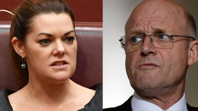 Senator Sarah Hanson-Young is suing David Leyonhjelm for calling her a hypocrite and misandrist. Image: Mick Tsikas, Sam Mooy AAP