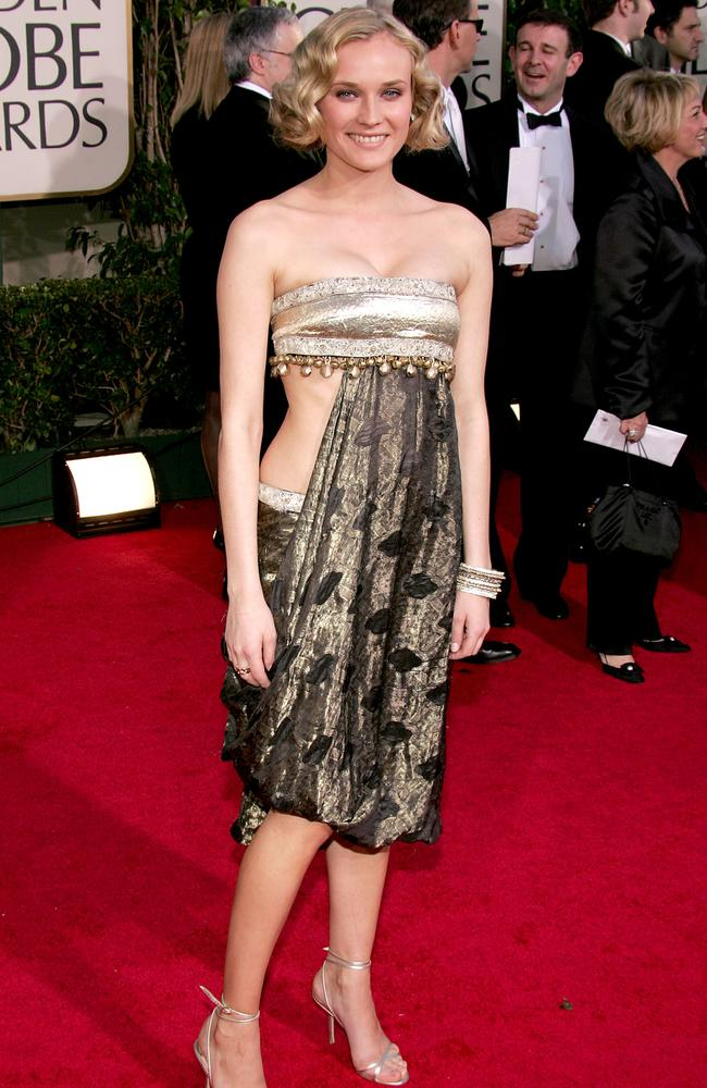 Diane Kruger couldn't stay clothed in Marchesa in 2005.