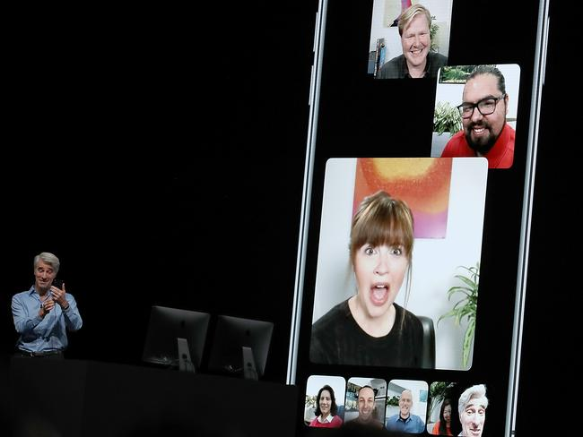 Apple has shut down Group FaceTime after a major security bug. Picture: AP