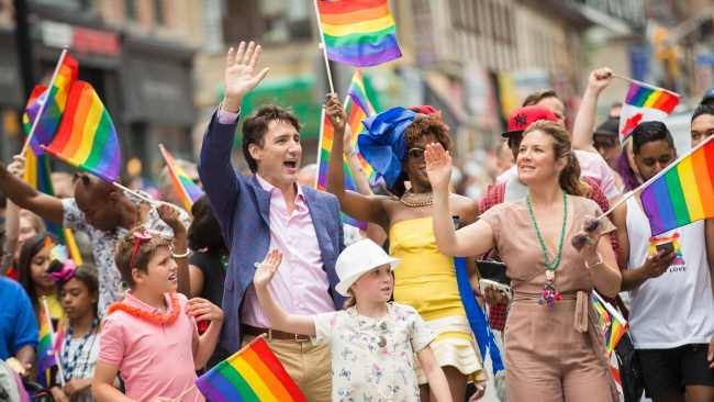 Justin Trudeau is for diversity. Image: AFP