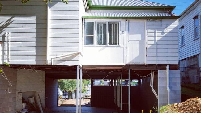 BEFORE: The back of the house at 101 Victoria St, Windsor, before the renovation.