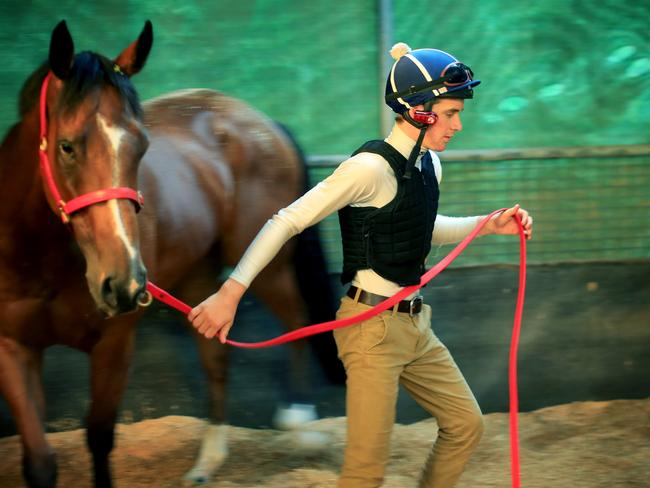 Sam Clipperton escaped serious injury recently in the Randwick tunnel. Picture: Mark Evans